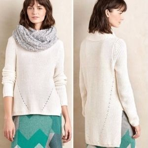 Anthropologie | White High-Low Sweater